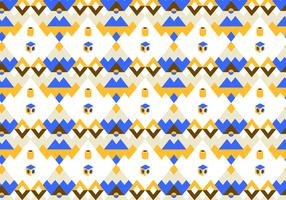 Blue and Yellow Abstract Pattern Vector