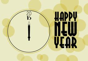 Free New Year Clock Vector