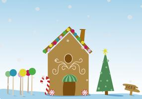 Free Christmas Gingerbread House Vector
