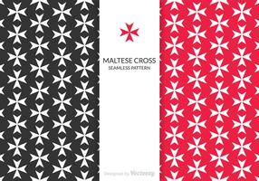 Free Maltese Cross Vector Pattern