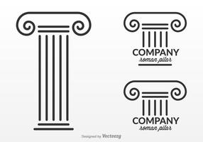 Free Roman Pillar Logo Design Vector