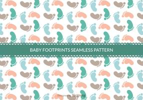 Free Baby Footprints Seamless Vector Pattern