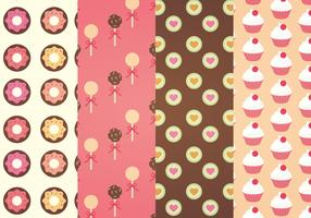 Sweets Vector Patterns