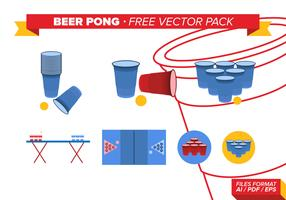 Beer Pong Free Vector Pack