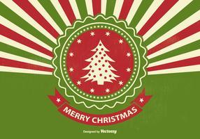 Retro Style Sunburst Christmas Illustration