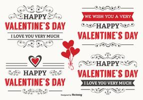 Typographic Valentine's Day Labels