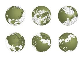 Free Globe Grid Vector set