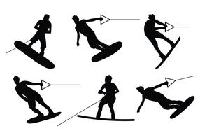 Wakeboarding Vector