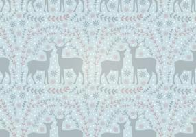 Vector Holiday Deer Seamless Pattern