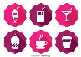 Drinks Long Shadow Icons