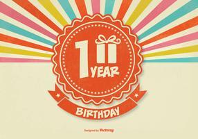 Retro 1st Birthday Illustration