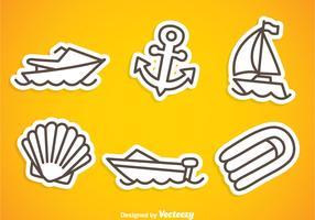 Nautica Gray Outline Icons