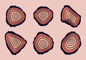 Free Tree Rings Vector Illustration #12