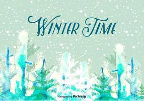 Winter Time Vector Background