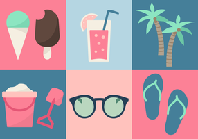 Free Beach Elements Vector