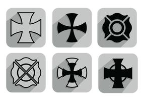 Maltese Cross Vectors