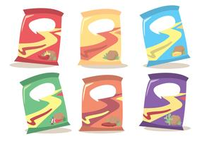 Bag Of Chips Vector Set