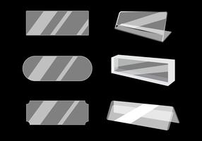 Free Acrylic Name Plate Vector