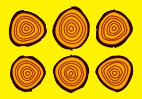 Free Tree Rings Vector Illustration #16