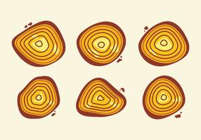 Free Tree Rings Vector Illustration #11