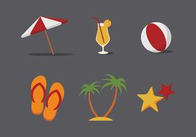 Vector Beach Illustration Set
