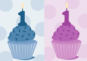 Free First Birthday Vector