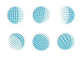 Free Globe Grid Logo Vector