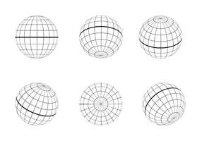 Free Globe Grid Outline Vector