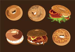 Bagel Bread Vectors