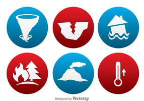 Natural Disaster Circle Icons