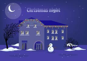Free Christmas Night Vector Illustration