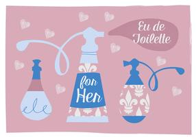 Free Perfume Vector Background Illustration