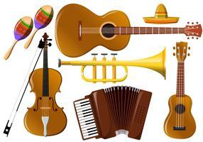 Mariachi Music Instrument Vectors