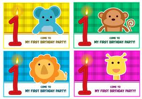 1st birthday Vectors