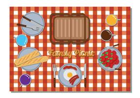 Family Picnic Vector
