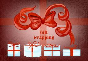 Free Gift Boxes with Bows and Ribbons Vector