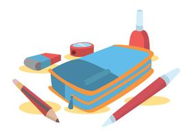 Pencil Case Vector Set