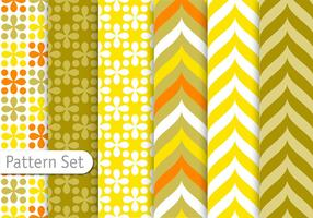 Decorative Colorful Retro Pattern Set