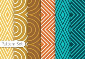 Colorful Line Geometric Pattern Set