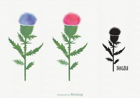 Free Watercolor Thistle Vector