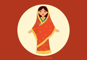 Free Indian Girl Vector