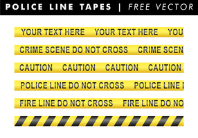 Police Line Tapes Free Vector