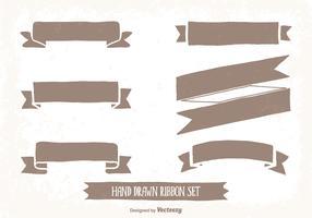 Hand Drawn Style Ribbon Set