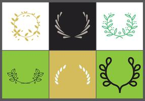 Olive Wreath Vector Set 2