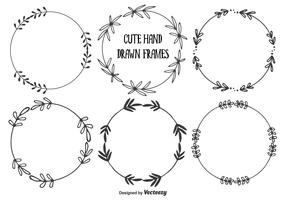 Cute Hand Drawn Frames Set