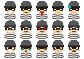 Robber Emoticons