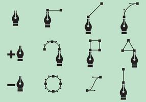 Vector Pen Nib Icons
