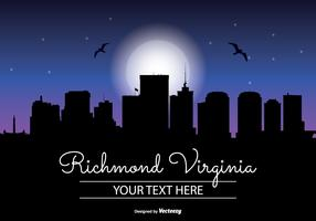 Richmond Virginia Night Skyline