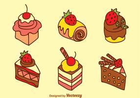 Sweet Cake Vector Set