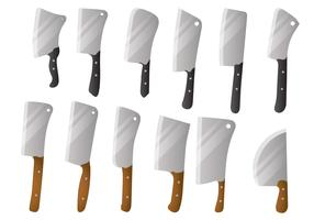 Cleaver Big Knife Vector Set